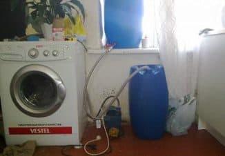 как установить стиральную машину автомат без водопровода