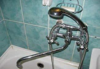 устройство смесителя для ванной