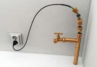 саморегулирующийся греющий кабель для водопровода