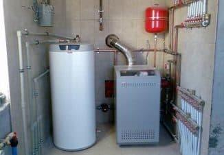 система отопления и горячего водоснабжения частного дома
